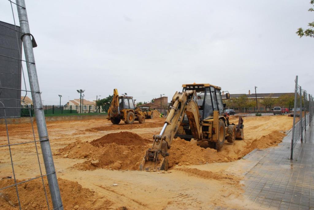 Obras de la nueva escuela infantil en la barriada de El Patriarca.