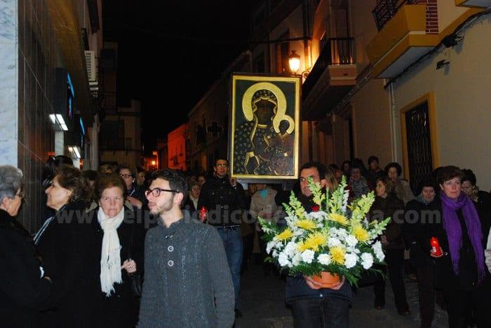 Procesión de la Virgen de Czestochowa desde la Iglesia Mayor hasta el Cristo de la Cárcel.
