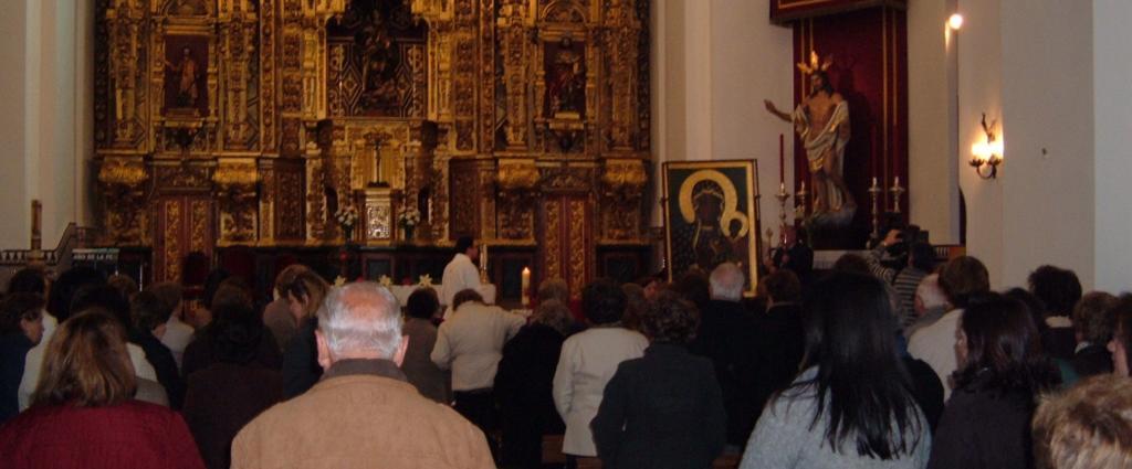 Virgen de Czestochowa en la Iglesia Mayor de Mairena del Alcor.