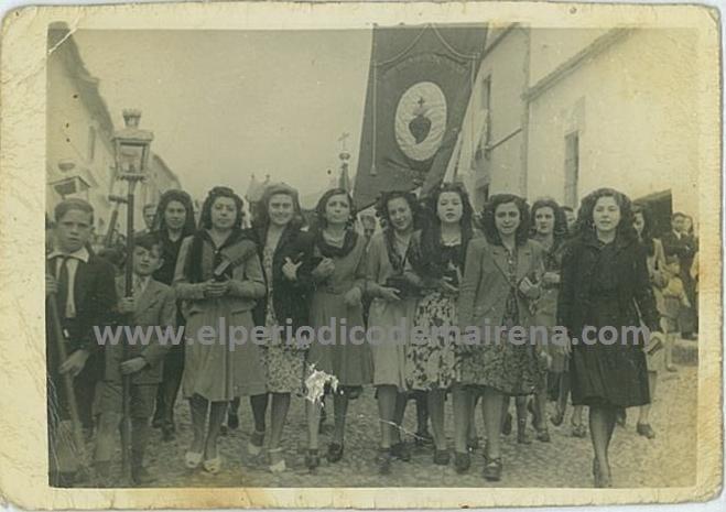 Celebración del Corpus en Mairena del Alcor, años 50.