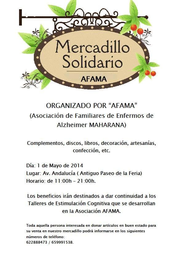 Mercadillo Solidario de AFAMA