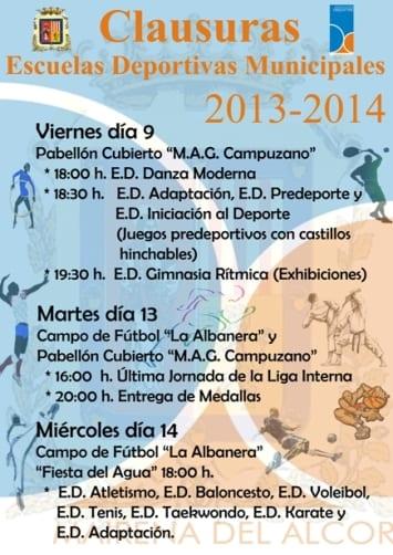 CARTEL CLAUSURA ED 2013-2014