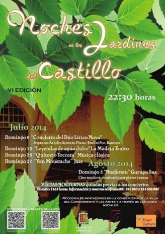 CartelNochesJardinesCastillo2014