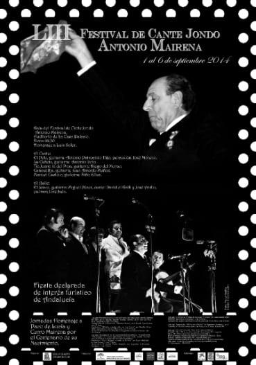 Cartel LIII festival de canta jondo antonio mairena-1