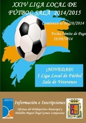 Cartel Liga Futbol Sala 2014-2015