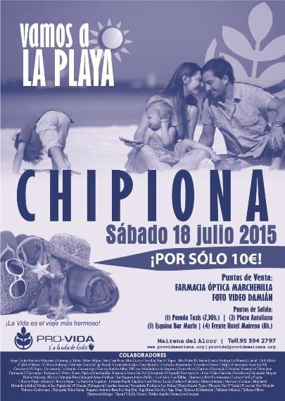 CARTEL CHIPIONA Azul 2015