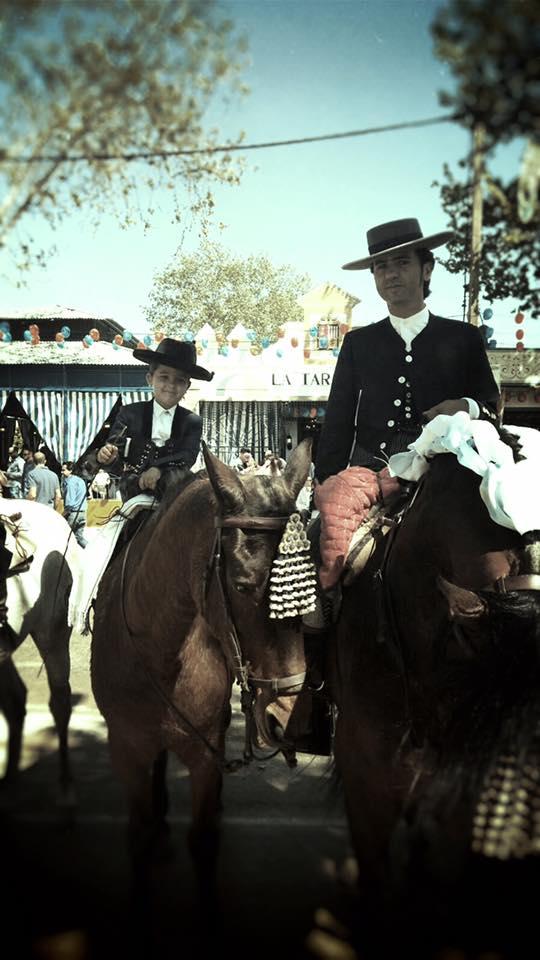 caballo hombre niño