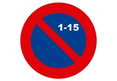 Deshabilitado el mes par en las vías con señal de estacionamiento quincenal