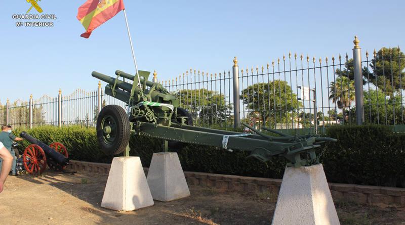La Guardia Civil localiza y precinta un pieza de artillería expuesta en una finca privada