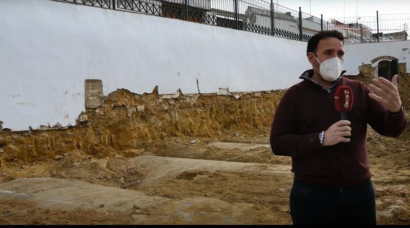 Aparecen unos depósitos de agua durante la obra de excavación de la Plaza de Alconchel