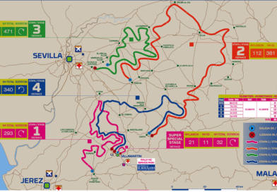 La tercera etapa del Rally Andalucía recorrerá gran parte del término municipal de Carmona