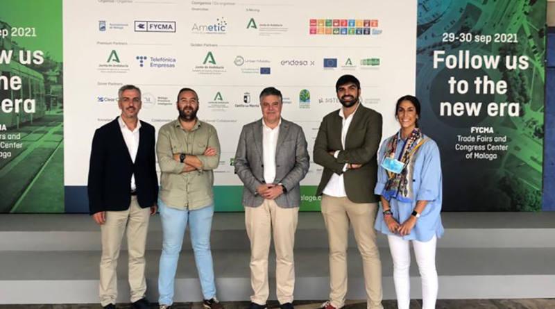 Mairena presenta el plan Smart City en el stand de Innovasur en el foro de Inteligencia y Sostenibilidad Urbana de Málaga
